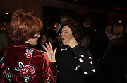 Esther Ranzen and Ruby Wax. The premiere for the new Cirque Du Soleil production, Alegria, at the Royal Albert Hall and party afterwards in the Kensington Roofgarden. London.  5 January 2006. ONE TIME USE ONLY - DO NOT ARCHIVE  © Copyright Photograph by Dafydd Jones 66 Stockwell Park Rd. London SW9 0DA Tel 020 7733 0108 www.dafjones.com