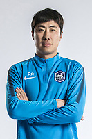 **EXCLUSIVE**Portrait of Chinese soccer player Yang Qipeng of Tianjin TEDA F.C. for the 2018 Chinese Football Association Super League, in Tianjin, China, 28 February 2018.