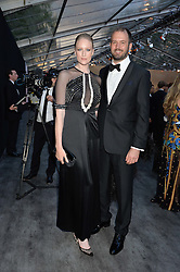JADE PARFIT and JACK DYSON at British Vogue's Centenary Gala Dinner in Kensington Gardens, London on 23rd May 2016.