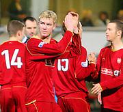 IRN BRU Scottish League First Division<br /> East End Park, Dunfermline, 01/12/2007<br /> Goalscorer Kevin McDonald celebrates Dundee's win at East End Park<br /> <br /> © David Young<br /> <br /> Monifieth<br /> Dundee