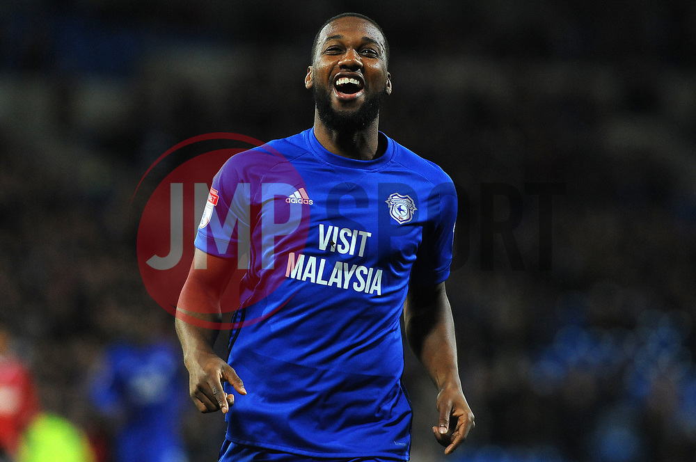 Junior Hoilett of Cardiff City scores a goal making it 1-0- Mandatory by-line: Nizaam Jones/JMP - 31/10/2017 -  FOOTBALL - Cardiff City Stadium- Cardiff, Wales -  Cardiff City v Ipswich  Town- Sky Bet Championship