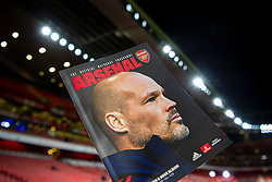 LONDON, ENGLAND - Thursday, December 5, 2019: Arsenal's care-taker manager Fredrik Ljungberg on the cover of the match day programme before the FA Premier League match between Arsenal FC and Brighton & Hove Albion FC at the Emirates Stadium. (Pic by Vegard Grott/Propaganda)