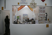 The resonance Stand with work by Bob and Roberta Smith, The Professional View and Private View of Frieze Art Fair. London. 11 october 2006. -DO NOT ARCHIVE-© Copyright Photograph by Dafydd Jones 66 Stockwell Park Rd. London SW9 0DA Tel 020 7733 0108 www.dafjones.com