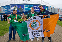 CARDIFF, WALES - Thursday, September 6, 2018: Republic of Ireland supporters ahead of the UEFA Nations League Group Stage League B Group 4 match between Wales and Republic of Ireland at the Cardiff City Stadium. (Pic by Laura Malkin/Propaganda)