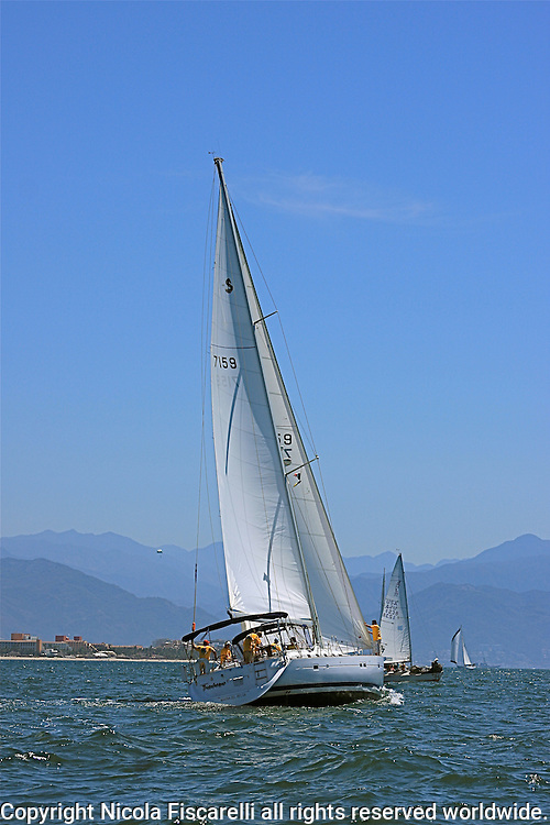 The sail boats participats in 2009 Regatta    of the coast of La Cruz Mexico.