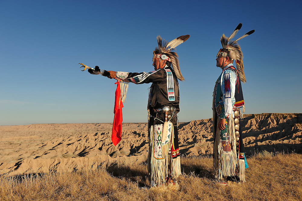 Lakota Indians,Badlands,South Dakota,USA.(Model releases: 0132,0133,)