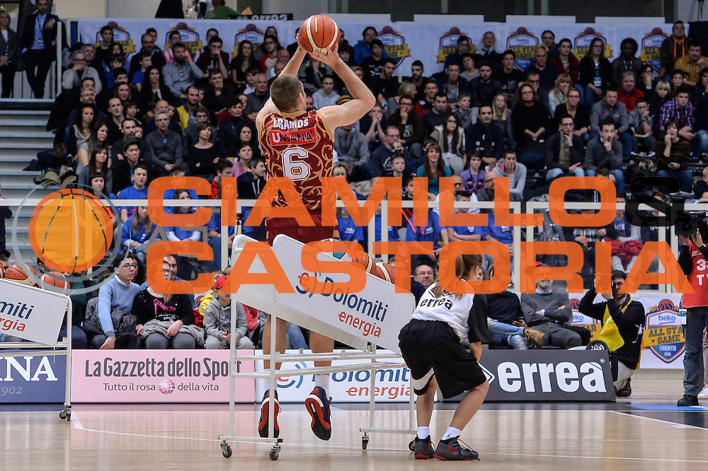 DESCRIZIONE : Trento Beko All Star Game 2016 Dolomiti Energia Three Point Contest<br /> GIOCATORE : Michael Bramos<br /> CATEGORIA : Tiro Tre Punti Three Point<br /> SQUADRA : Umana Reyer Venezia<br /> EVENTO : Beko All Star Game 2016<br /> GARA : Dolomiti Energia Three Point Contest<br /> DATA : 10/01/2016<br /> SPORT : Pallacanestro <br /> AUTORE : Agenzia Ciamillo-Castoria/L.Canu