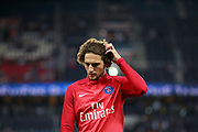 Paris Saint Germain's French midfielder Adrien Rabiot gestures during the French championship L1 football match between Paris Saint-Germain (PSG) and Saint-Etienne (ASSE), on August 25, 2017 at the Parc des Princes in Paris, France - Photo Benjamin Cremel / ProSportsImages / DPPI