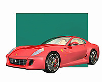 Ferrari is a vehicle that makes people think of extraordinary examples of engineering prowess. Few vehicle names are more celebrated than the Ferrari, which has defined the dreams of automobile enthusiasts for the past several generations. You can recreate those dreams with this digital painting, which can be set up anywhere you please