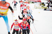 DAVOS, SCHWEIZ - 2016-12-09: &Aring;kare och tr&auml;nare under tr&auml;ning inf&ouml;r Viessmann FIS Cross Country World Cup den 9 december, 2016 i Davos, Schweiz. Foto: Nils Petter Nilsson/Ombrello<br /> ***BETALBILD***
