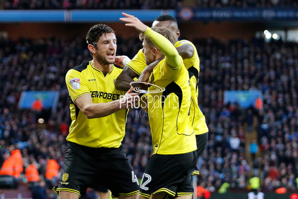Burton Albion striker Jamie Ward (12) scores for Burton Albion and celebrates making the score 1-1 during the EFL Sky Bet Championship match between Aston Villa and Burton Albion at Villa Park, Birmingham, England on 26 December 2016. Photo by Richard Holmes.