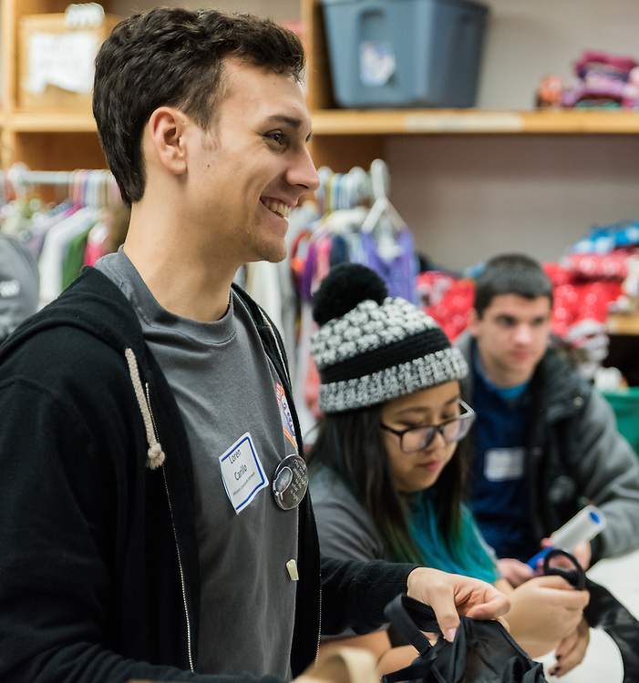 Student volunteers spent Martin Luther King Jr. Day serving the greater Spokane community at The Salvation Army, Northtown Boys & Girls Clubs, and the Mission Community Outreach Center in Spokane, Wa on January 18, 2016.