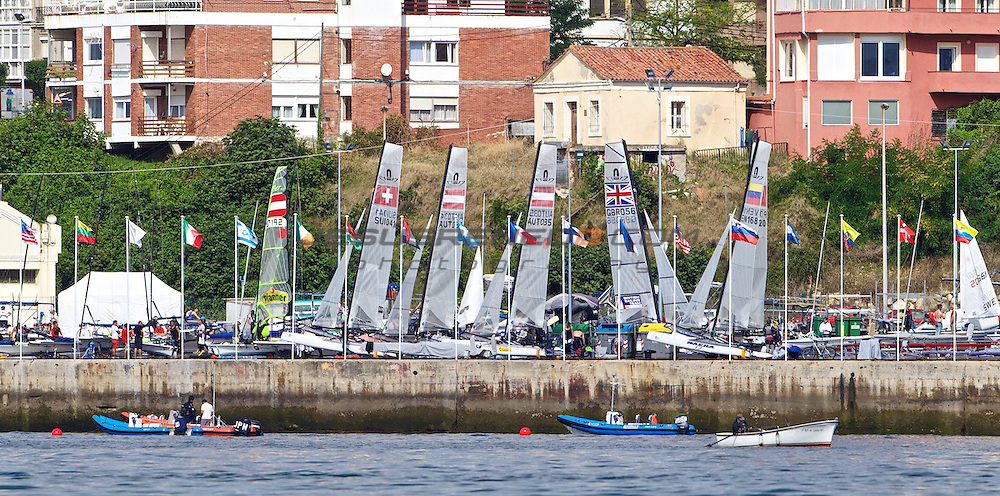 CIUDAD DE SANTANDER Trophy, Isaf sailing World Championships test event.Day 3