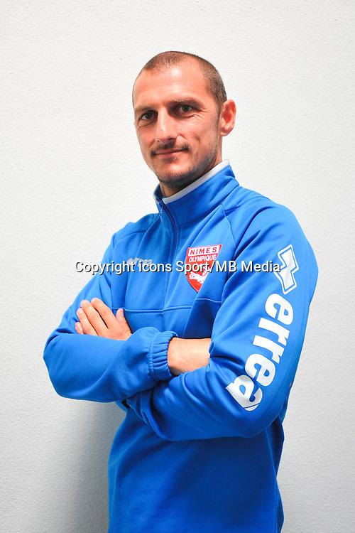 Jerome ARPINON - 16.09.2014 - Photo officielle Nimes - Ligue 2 2014/2015<br /> Photo : Icon Sport