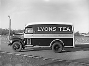 12/11/1954<br /> 11/12/1954<br /> 12 November 1954<br /> New Thames 4D diesel van for  J. Lyons and Co. Ltd., Tea wholesalers, Marlborough Street, Dublin.