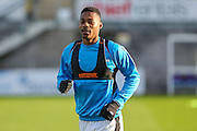 Forest Green Rovers Ethan Pinnock(16) warming up during the Vanarama National League match between Torquay United and Forest Green Rovers at Plainmoor, Torquay, England on 26 December 2016. Photo by Shane Healey.