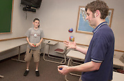 15353Alexander Middle school students are tutored by O.U. Students in juggling class at Gordy