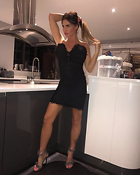 """Katie Price releases a photo on Instagram with the following caption: """"Wearing this beaut 'Kalani' dress from @inthestyleuk \u2728 shoes are also from them xx"""". Photo Credit: Instagram *** No USA Distribution *** For Editorial Use Only *** Not to be Published in Books or Photo Books ***  Please note: Fees charged by the agency are for the agency's services only, and do not, nor are they intended to, convey to the user any ownership of Copyright or License in the material. The agency does not claim any ownership including but not limited to Copyright or License in the attached material. By publishing this material you expressly agree to indemnify and to hold the agency and its directors, shareholders and employees harmless from any loss, claims, damages, demands, expenses (including legal fees), or any causes of action or allegation against the agency arising out of or connected in any way with publication of the material."""