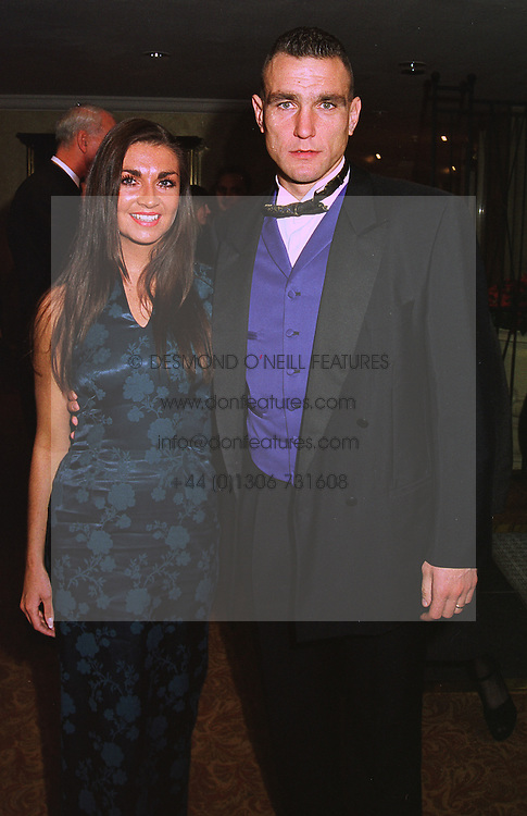 MR & MRS VINNIE JONES he is the international footballer, at a ball in London on 17th December 1997.MEG 26