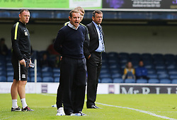 Peterborough United Manager Dave Robertson shouts on the touchline - Mandatory byline: Joe Dent/JMP - 07966386802 - 05/09/2015 - FOOTBALL - Roots Hall -Southend,England - Southend United v Peterborough United - Sky Bet League One