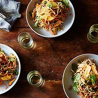 jaengban guksu korean style soba noodles with spicy dressing