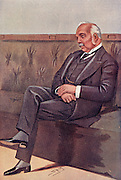 Henry Campbell-Bannerman (1836-1908) Scottish-born British statesman. Liberal Member of Parliament for Stirling 1868. Liberal leader 1899. Prime Minister 1905-1908. After a cartoon by 'Spy' (Leslie Ward, 1851-1922) from 'Vanity Fair' London, 1899.