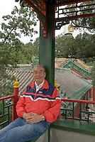 Zhang Minxian, 71, in Beihai park where he was 60 years ago during the Tian'an men ceremony for the declaration of the People's republic of China. September 09.