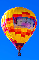 Albuquerque Convention & Visitors Bureau balloon at the Albuquerque International Balloon Fiesta, Albuquerque, New Mexico USA.