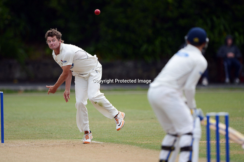 Bruce Martin, Plunket shield, 4 day domestic cricket. Auckland Aces v Otago Volts, Eden Park No2, Auckland. 3 December 2012. Photo: Andrew Cornaga/photosport.co.nz
