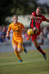 Livingston Jack Hamilton and Annan Athletic's Peter Watson. Livingston 1 v 0 Annan Athletic, Scottish League Cup Group F, played 21/7/2018 at Prestonfield, Linlithgow.