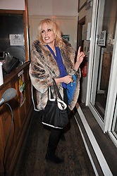 JOANNA LUMLEY at the gala night party of Losing It staring Ruby Wax held at he Menier Chocolate Factory, 51-53 Southwark Street, London SE1 on 23rd February 2011.