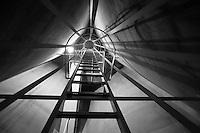 ladder between silos