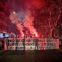 I movimenti di lotta per la casa protestano a Roma