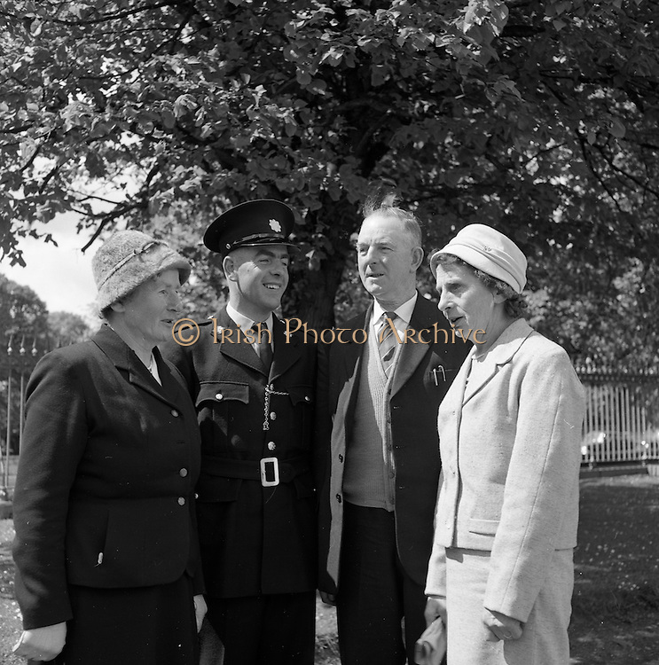 05/05/1961 <br /> 05/05/1961<br /> 05 May 1961<br /> Garda passing out parade and Scott Medal lists at the Garda Depot, Phoenix Park in Dublin.