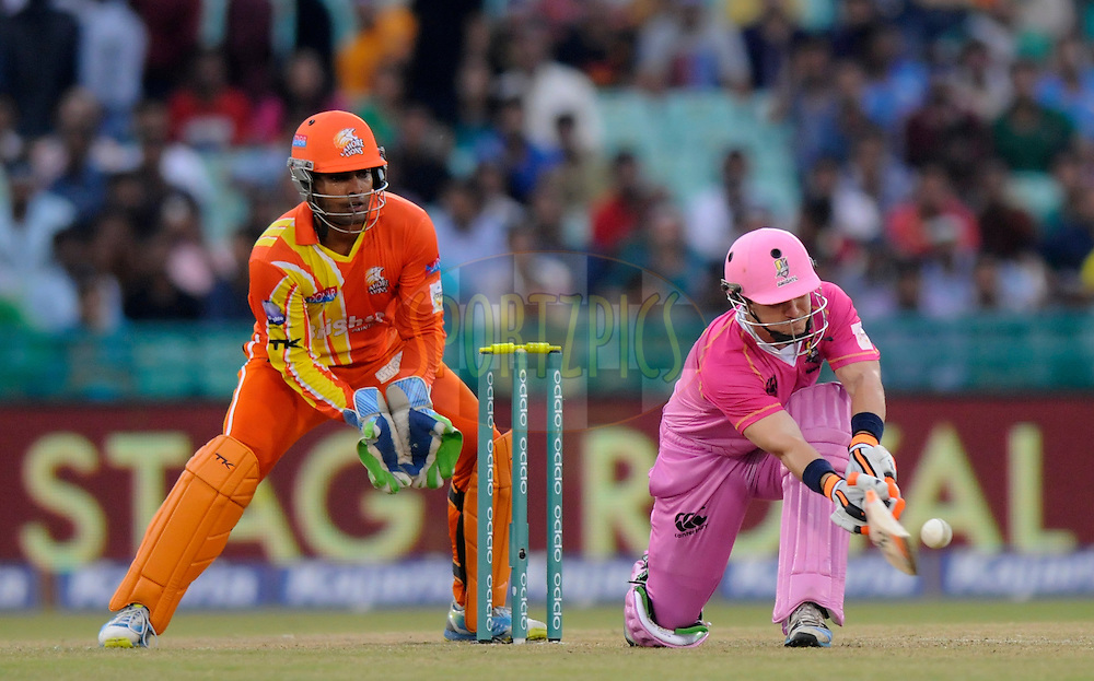 BJ Watling of Northern Districts bats during the qualifier 3 match of the Oppo Champions League Twenty20 between the Northern Knights and the Lahore Lions held at the Chhattisgarh International Cricket Stadium, Raipur, India on the 14th September 2014<br /> <br /> Photo by:  Pal Pillai / Sportzpics/ CLT20<br /> <br /> <br /> Image use is subject to the terms and conditions as laid out by the BCCI/ CLT20.  The terms and conditions can be downloaded here:<br /> <br /> http://sportzpics.photoshelter.com/gallery/CLT20-Image-Terms-and-Conditions-2014/G0000IfNJn535VPU/C0000QhhKadWcjYs