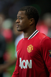 19.11.2011, Liberty Stadion, Swansea, ENG, PL, Swansea City vs Manchester United, 12. Spieltag, im Bild Manchester United's captain Patrice Evra, under pressure due to his racist allergations, walks out to face Swansea City during the Premiership match at the Liberty Stadium. (Pic by David Rawcliffe/Propaganda). EXPA Pictures © 2011, PhotoCredit: EXPA/ Sportida/ David Rawcliff..***** ATTENTION - OUT OF ENG, GBR, UK *****