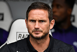 """Derby County manager Frank Lampard during a pre season friendly match at Pride Park, Derby. PRESS ASSOCIATION Photo. Picture date: Saturday July 21, 2018. Photo credit should read: Anthony Devlin/PA Wire. EDITORIAL USE ONLY No use with unauthorised audio, video, data, fixture lists, club/league logos or """"live"""" services. Online in-match use limited to 75 images, no video emulation. No use in betting, games or single club/league/player publications."""