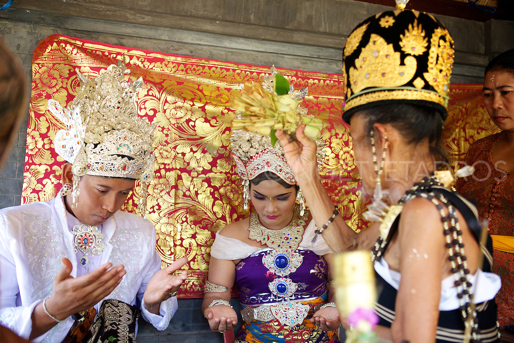 Balinese Wedding Ceremony .<br />