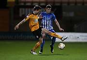 Harrison Dunk of Cambridge United and Kenton Richardson of Hartlepool United in action during the EFL Sky Bet League 2 match between Cambridge United and Hartlepool United at the Cambs Glass Stadium, Cambridge, England on 14 March 2017. Photo by Harry Hubbard.