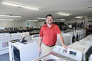 Mark Blonder poses for a photo in Blonders Appliance Tuesday September 1, 2015 in Levittown, Pennsylvania.  (Photo by William Thomas Cain)