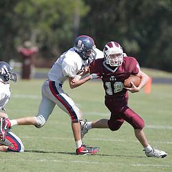 St. Thomas Aquinas QB/DB Chasse Tassin (#18) The St. Thomas Falcons junior varsity team defeated Riverside 14-0 at St. Thomas Field in Hammond, LA.