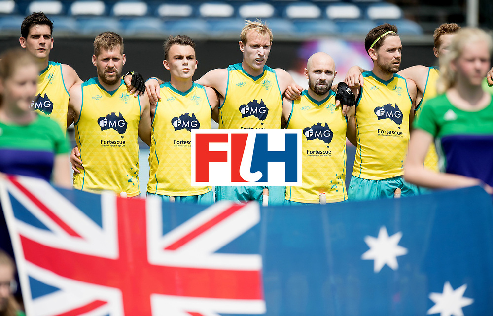BREDA - Rabobank Hockey Champions Trophy<br /> India - Australia<br /> Photo: Australian line up.<br /> COPYRIGHT WORLDSPORTPICS FRANK UIJLENBROEK