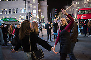 Dancing Piccadilly Circus,  London, 9 February 2019