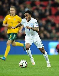 Raheem Sterling of England (Liverpool)  - Photo mandatory by-line: Joe Meredith/JMP - Mobile: 07966 386802 - 27/03/2015 - SPORT - Football - London - Wembley Stadium - England v Lithuania - UEFA EURO 2016 Qualifier