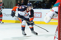 KELOWNA, CANADA, OCTOBER 29: Tim Bozon #15 of the Kamloops Blazers skates against the Kelowna Rockets as the Kamloops Blazers visit the Kelowna Rockets  on October 29, 2011 at Prospera Place in Kelowna, British Columbia, Canada (Photo by Marissa Baecker/Shoot the Breeze) *** Local Caption *** Tim Bozon;