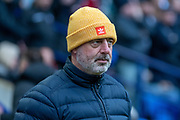 Bolton Wanderers Manager Kieth Hill before the EFL Sky Bet League 1 match between Bolton Wanderers and Milton Keynes Dons at the University of  Bolton Stadium, Bolton, England on 16 November 2019.