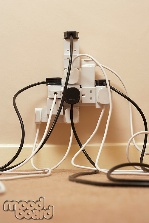 Abundance of Electrical Plugs in Outlet