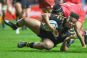 Wasps hooker Gabriel Oghre (16) during the Gallagher Premiership Rugby match between Wasps and Saracens at the Ricoh Arena, Coventry, England on 21 February 2020.