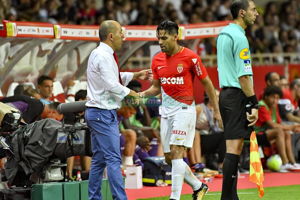 August 4, 2017 - Monaco, France - Radamel Falcao (AS Monaco) - Leonado Jardim  (Credit Image: © Panoramic via ZUMA Press)