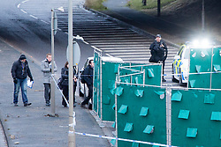 © Licensed to London News Pictures. 03/01/2017. Huddersfield UK. A a man has died during a pre-planned operation on a M62 slip road near Huddersfield. Police said a police firearm was discharged at about 18:00 on Monday near the M62 motorway.  Photo credit: Andrew McCaren/LNP